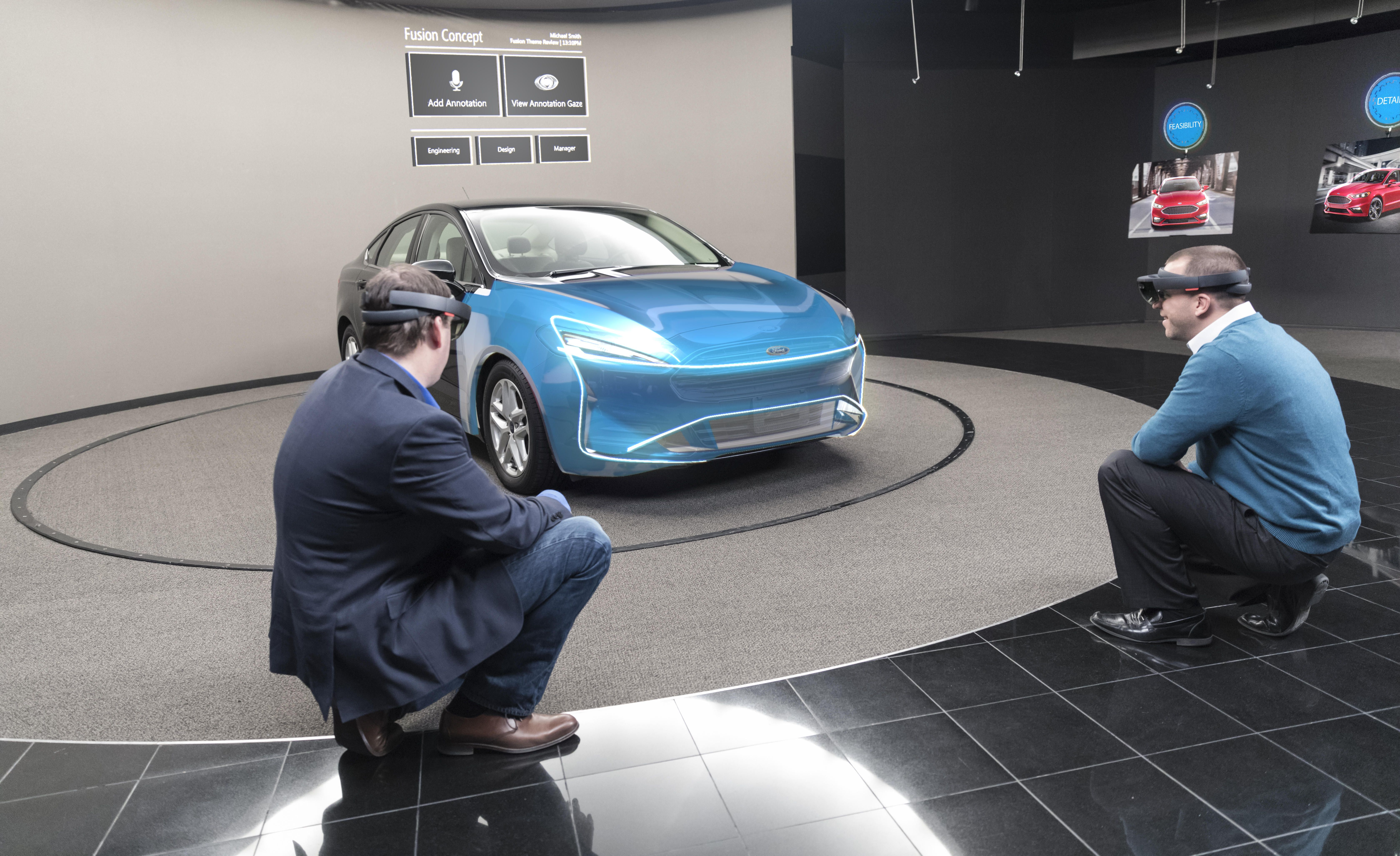 Ford using hologram goggles